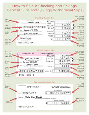 15 Printable deposit slip bank of america Forms and Templates