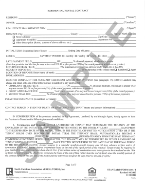 Fillable Online Example NC Lease Agreement - The Bayshore Company ...