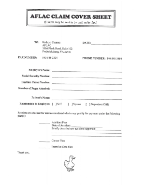 fax cover sheet template fillable