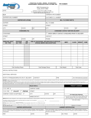 straight bill of lading original not negotiable pdf