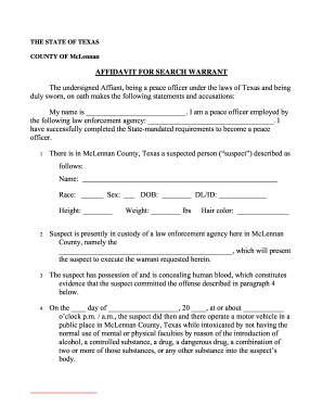 search warrant templates Bill Of Sale Form Kentucky Affidavit For Search Warrant Form ...