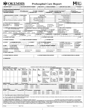 paper patient care reports fill online printable fillable blank