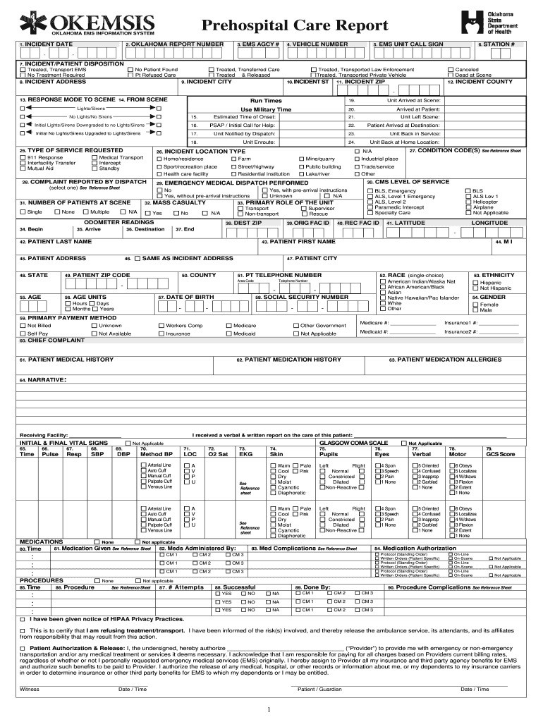 Patient Care Report Template - Fill Online, Printable, Fillable Regarding Medical Report Template Doc
