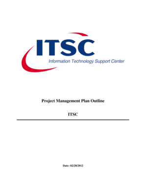 Project Management Plan Outline ITSC - itsc