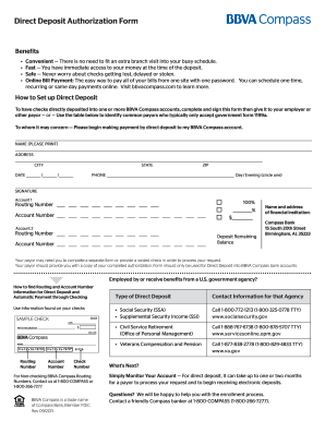 bank direct deposit authorization form