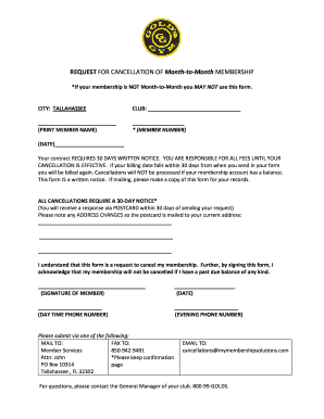 Golds Gym Cancellation Form - Fill Online, Printable, Fillable ...