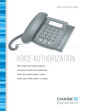 Chase Paymentech Authorization Approval Code List - Fill