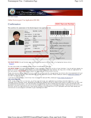 H1B Visa Application Form DS - Guide for filling DS Form