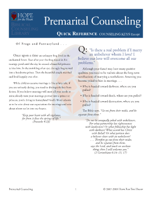 Printable pre marriage counseling forms Form to Submit Online | pre
