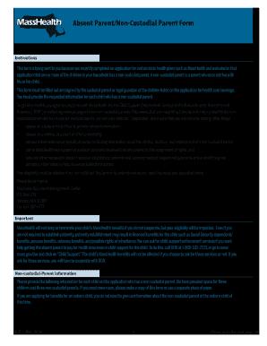 Ma Health Noncustodial Parent Online Form Form - Fill Online ...