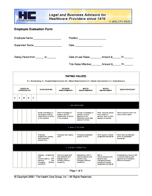 employee evaulation form