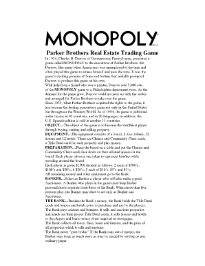 Onlinemonopoly - Fill Online, Printable, Fillable, Blank | PDFfiller