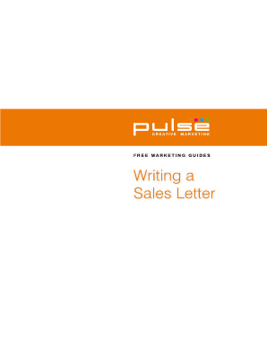 Writing a Sales Letter - Pulse Creative Marketing