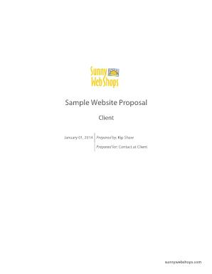 fillable online web design proposal sample pdf p1 docs enginecom fax email print pdffiller