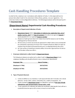 Cash handling procedures template fill online printable fillable cash handling procedures template fill online printable fillable blank pdffiller maxwellsz