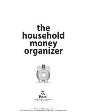 the household money organizer forms