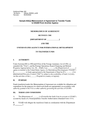 Sample Memorandum Of Agreement Forms and Templates - Fillable ...