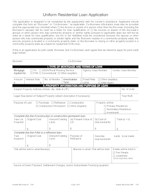 uniform residential, sample small, african bank, template free, sample home, print out eminent finance, blank business, on 1003 loan application form printable