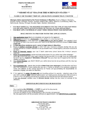 France Visa Application Picture From - Fill Online, Printable ...
