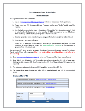 gujarat commercial tax form 403 online