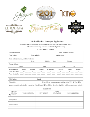 Sample Employment Application Form. flipping brochure