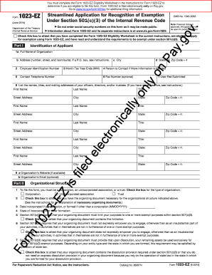 1023 Ez Form Download - Fill Online, Printable, Fillable, Blank ...