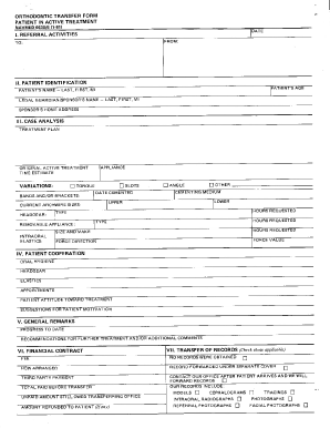 aao transfer form Fillable Online med navy Orthodontic transfer form patient in active ...