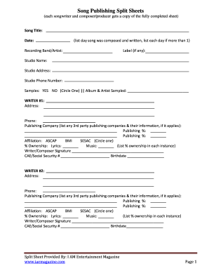 Song Writing Template - Fill Online, Printable, Fillable, Blank ...