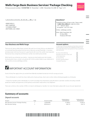 wells fargo bank statement template How To Make A Fake Bank Statement Online Free - Fill Online ...