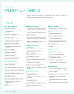 Use this Wedding Planning Guide to keep track of your wedding budget and