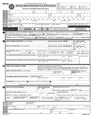 Ny Dmv Registration Form >> How Do You Sign A Title Over Ny State Fill Online