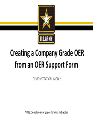 Fillable Online hrc army Creating a Company Grade OER from an OER ...