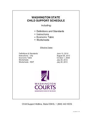 washington proposed child support worksheets - The Best and Most ...
