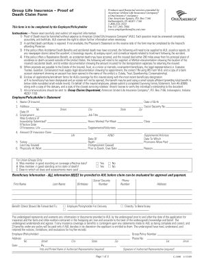 Fidelity Security Life Insurance Company Claim Form - Fill Online ...