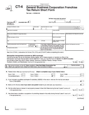 form 318925 2006 Form NY DTF CT-4 Fill Online, Printable, Fillable, Blank ...