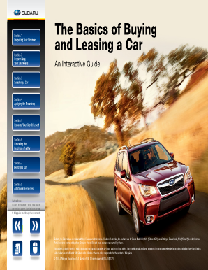 Fillable online subaru motors finance buying guide chase for Subaru motors finance c o chase