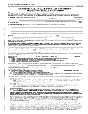 mn vacant land disclosure form