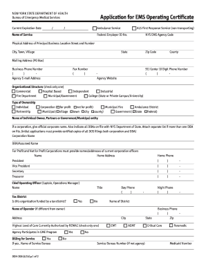 Nys doh ems forms templates fillable printable samples for pdf application operating certificate form spiritdancerdesigns Gallery