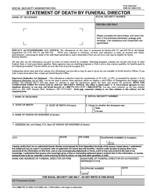social security 721 form fillable 2005