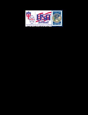 Fillable Online azasa Girls Fast Pitch ASA Softball Tournament Rules