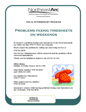 northeast arc timesheets Fillable Online ne-arc Flier for problem with faxing timesheets.pub ...