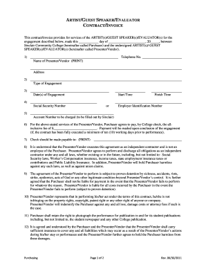 guest preacher contract form