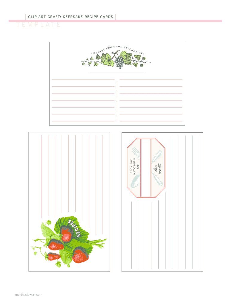 Editable Recipe Template Pdf Fill Online Printable