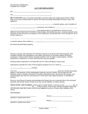 act of donation forms act of donation form louisiana - Carnaval.jmsmusic.co
