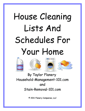 House Cleaning Lists And Schedules For Your Home - Homeschool ...