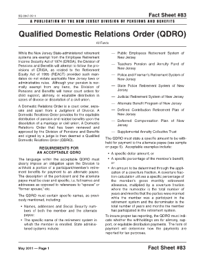 Qualified domestic relations order stock options