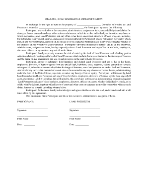 hold harmless agreement california Forms and Templates - Fillable ...