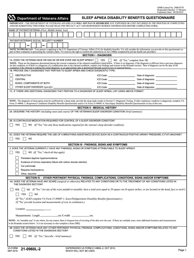 Va Compensation Sleep Apnea - Fill Online, Printable