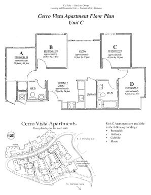 Fillable Online Housing Calpoly Cerro Vista Apartment Floor Plan Unit C Cal Poly San Luis Obispo Fax Email Print Pdffiller