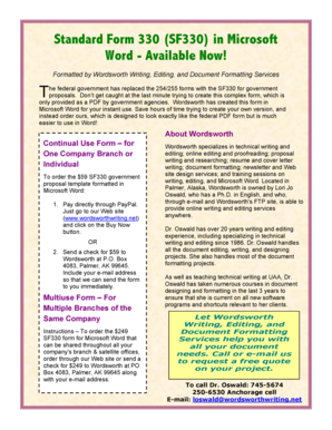 330 In Word Form - Fill Online, Printable, Fillable, Blank | PDFfiller